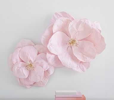 Jumbo Crepe Paper Flowers-set of 2 - Pink - Pottery Barn Kids