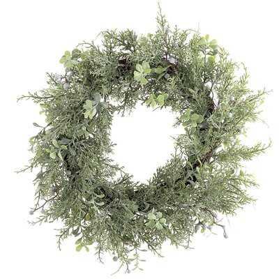 """Cedar Look 18"""" Polyethylene Wreath - Birch Lane"""