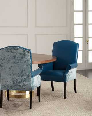 Francisco Leather Arm Chair - Horchow
