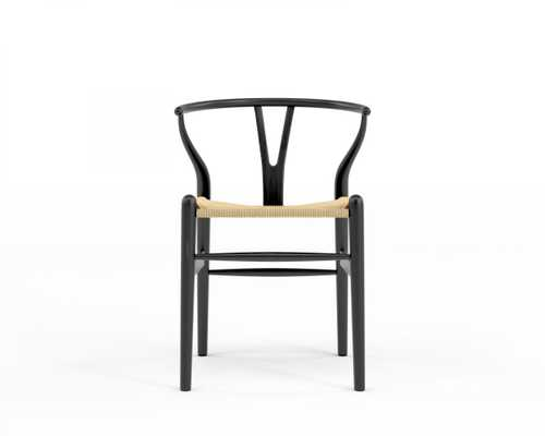Wishbone Chair - Ebony Natural Seat Cord - Rove Concepts