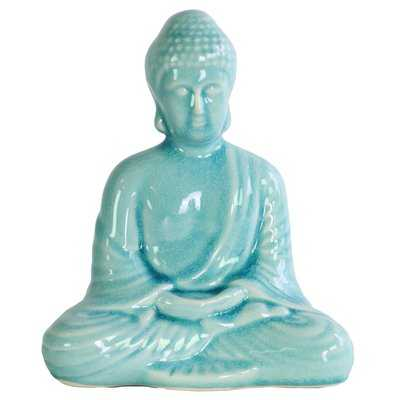 Porcelain Meditating Buddha Figurine - Wayfair
