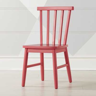 Shore Pink Kids Chair - Crate and Barrel