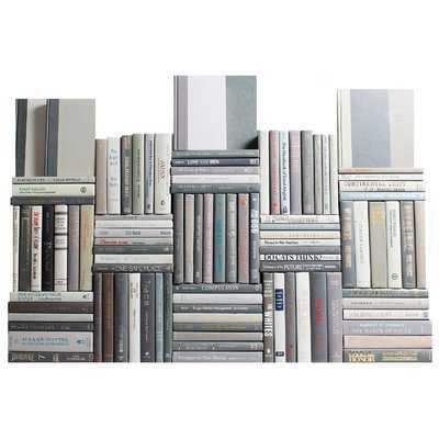 Authentic Decorative Books - By Color Modern Marble Book Wall, Set of 100 (10 Linear Feet) - Wayfair