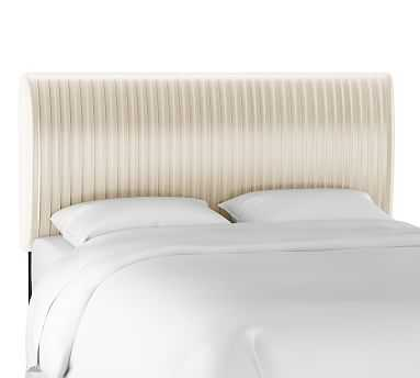 Kendall Channel Tufted Headboard, Cal. King, Ivory - Pottery Barn