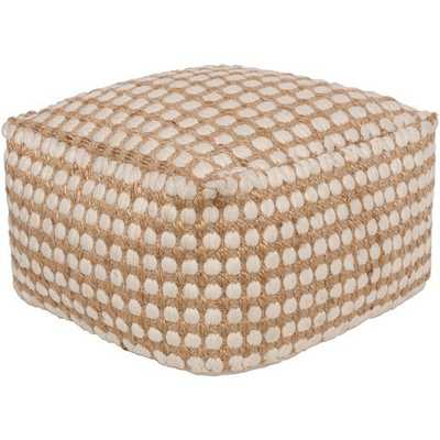 Oak Cove 20 x 20 x 12 Pouf - Neva Home