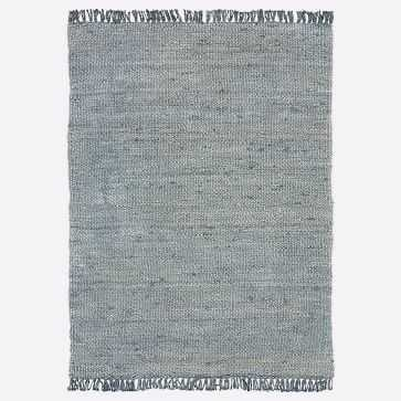 Sun Faded Jute Rug, Icy Teal, 8'x10' - West Elm