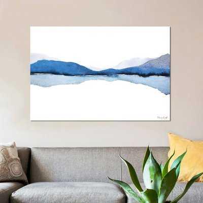 'Mountain Reflection' Print on Canvas - Wayfair
