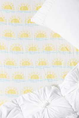 Sunshine Crib Sheet - Anthropologie
