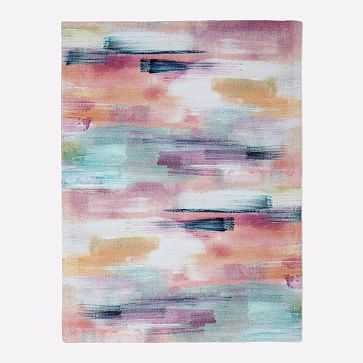 MTO Layered Brushstrokes Rug, Multi, 8x10 - West Elm