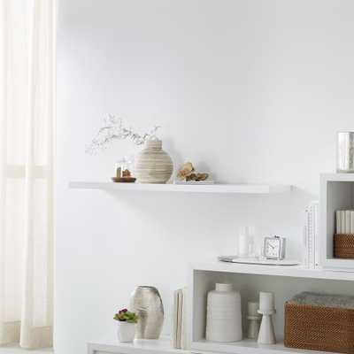 """Aspect White 47.5"""" Floating Wall Shelf - Crate and Barrel"""