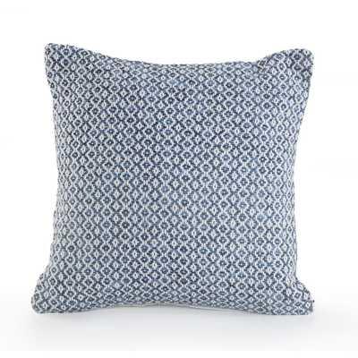Petite Diamond Navy / White (Blue/White) 18 in. x 18 in. Throw Pillow - Home Depot