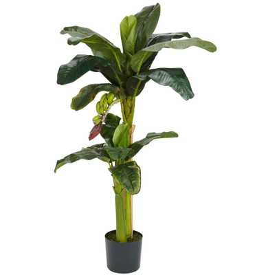 5 ft. and 3 ft. Green Banana Silk Tree with Bananas - Home Depot