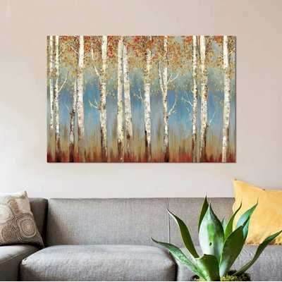 'Falling Embers I' Print on Canvas - Wayfair