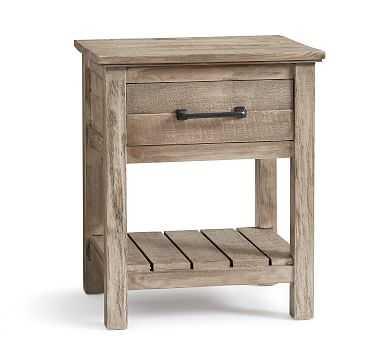 Paulsen Reclaimed Wood Nightstand, Cinder Gray - Pottery Barn