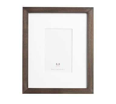 Wood Gallery Single Opening Frame, 4 x 6 - Charcoal - Pottery Barn
