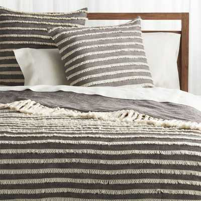 Corlett Grey and White Blanket - Crate and Barrel