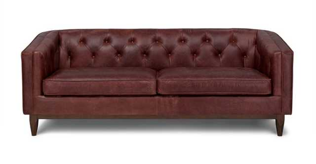 Alcott Charme Oxblood Sofa - Article