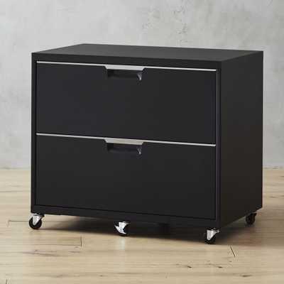 TPS Black Wide Filing Cabinet - CB2