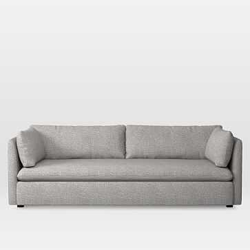 Shelter Grand Sofa, Deco Weave, Feather Gray - West Elm