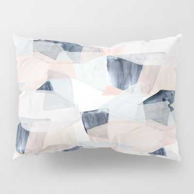 Abstract Shapes Blush + Blue By Crystal Walen Pillow Sham by Crystalwalen - Society6