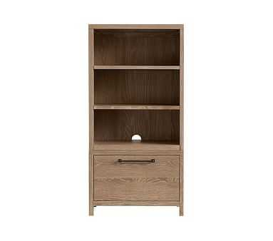 Charlie 1 Bookcase Cubby & 1 Drawer Base Set, Smoked Gray, Flat Rate - Pottery Barn Kids