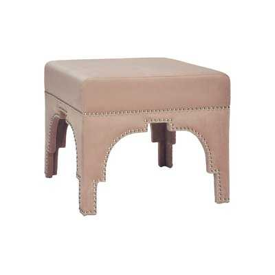 Nickel Nailhead Trim Vanity Stool - Wayfair