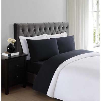 Black Queen Sheet Set - Home Depot