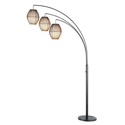 Adesso Maui 82 in. Antique Bronze Arc Floor Lamp - Home Depot