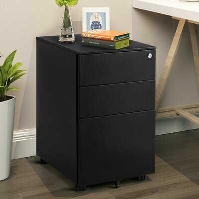 Hamill 3 Drawer Filing Cabinet Locking Pedestal Under Desk Home Office W/Wheels White - Wayfair