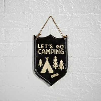 Camping Plaque - Crate and Barrel