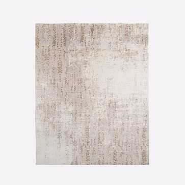 Distressed Foliage Rug, Platinum, 8'x10' - West Elm