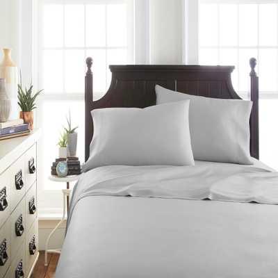 Bamboo 4-Piece Light Gray Queen Bed Sheet Set - Home Depot