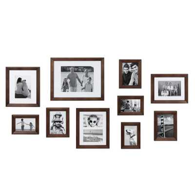 Bordeaux Brown Picture Frame (Set of 10) - Home Depot