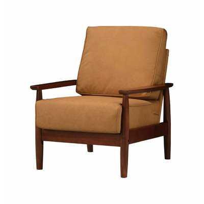 "Janes 29"" W Faux Leather Armchair - Wayfair"