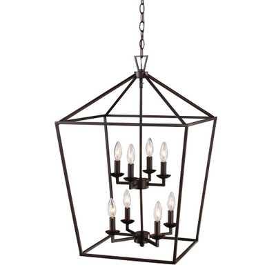 Home Decorators Collection Weyburn 8-Light Bronze Caged Chandelier - Home Depot