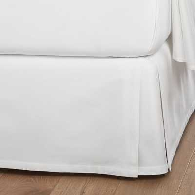 White Full Bedskirt - Crate and Barrel