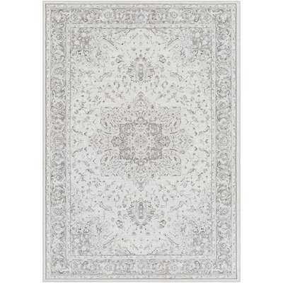 Shenk Oriental Gray/White Area Rug - Wayfair