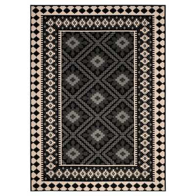 Nadir Indoor/Outdoor Area Rug - Black/Creme (8'x11'2) - Safavieh - Target