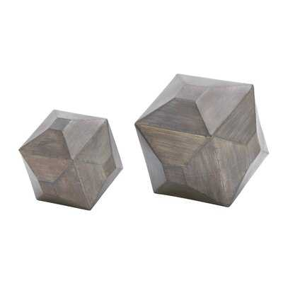 Cumbria Metal Table Decor 2 Piece Sculpture Set - AllModern