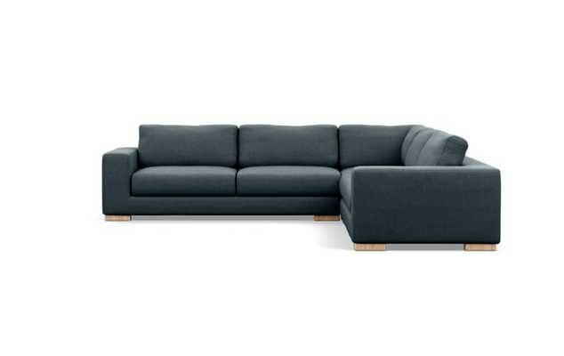 Henry Corner Sectional with Union Fabric and Natural Oak legs - Interior Define