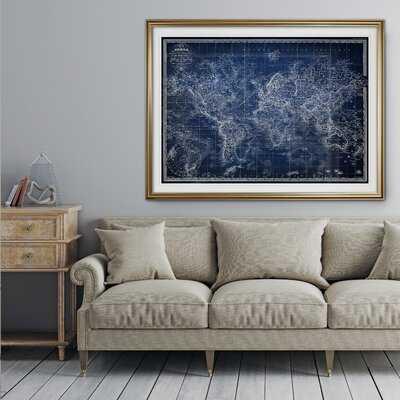 Vintage World Map V' Graphic Art Print - Birch Lane