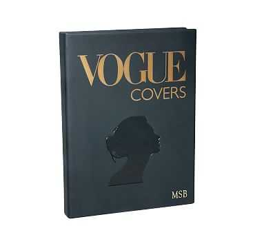 Vogue Covers Leather Book - Pottery Barn