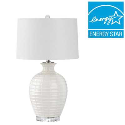Safavieh Shultz 23.5 in. White Table Lamp - Home Depot
