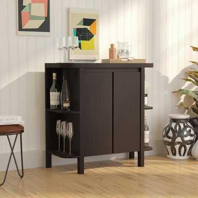 Spraggins Bar Cabinet with Wine Storage - Wayfair