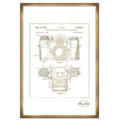 'Sauer Camera 1962' Framed Drawing Print in Gold - Wayfair