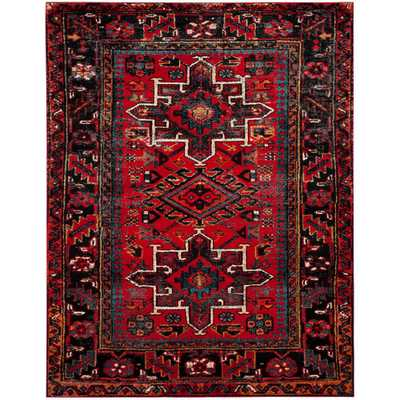 Vintage Hamadan Red/Multi 8 ft. x 10 ft. Area Rug - Home Depot
