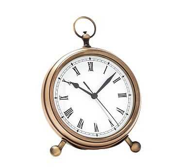 Pocket Watch Clock, Medium, Brass - Pottery Barn