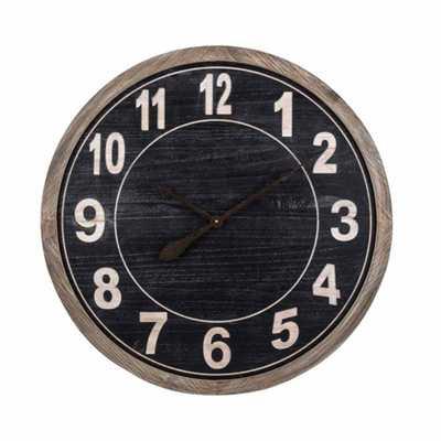 IMAX Tendo Wall Clock, Black - Home Depot