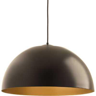 Progress Lighting Dome Collection 29-Watt Antique Bronze Integrated LED Pendant - Home Depot