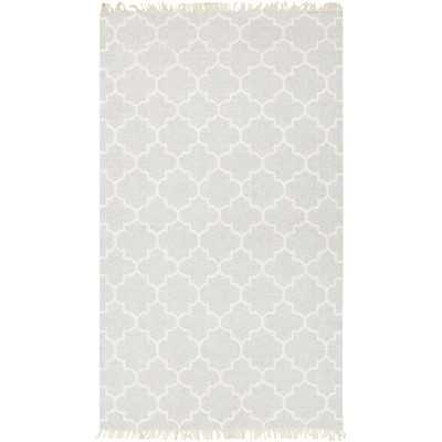 Palladio Hand-Woven Wool Light Gray Area Rug - Wayfair